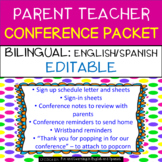 Parent Teacher Conference Forms {EDITABLE & BILINGUAL} English & Spanish