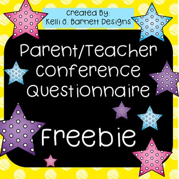 Parent Teacher Conference Parent Questionnaire