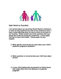 Parent Teacher Conference Planning Sheet