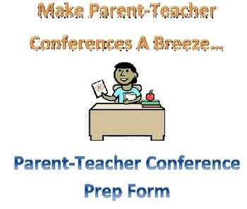 Parent-Teacher Conference Prep Organizer
