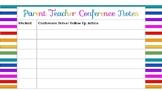 Parent Teacher Conference Printable