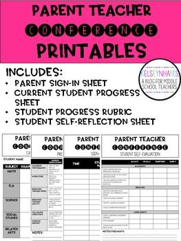 Parent Teacher Conference Printables
