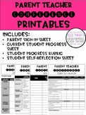 Parent Teacher Conference Printables
