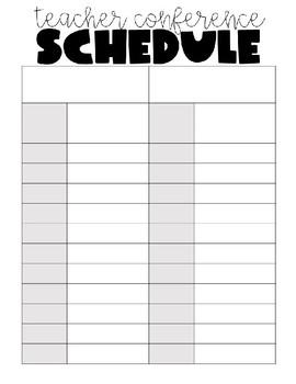 Parent Teacher Conference Printables ***EDITABLE***