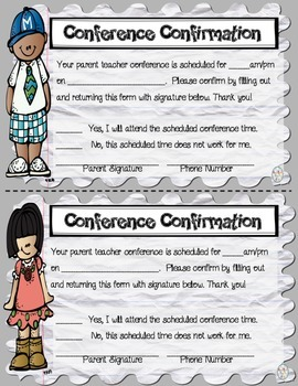 Parent Teacher Conference Forms -  Printable Pack