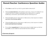Parent Teacher Conference Question Guide (for parents)