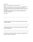 Parent Teacher Conference Questionnaire
