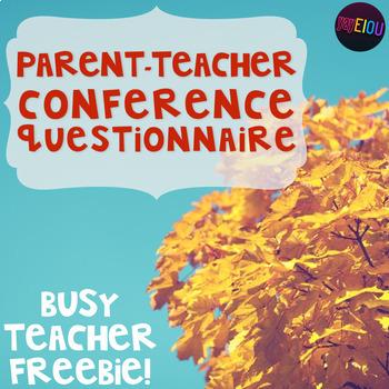 Parent-Teacher Conference Prep - Preconference Parent Ques