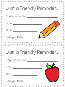 Parent Teacher Conference Reminder (English & Spanish)