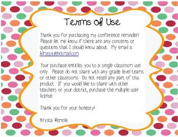 Parent-Teacher Conference Reminder
