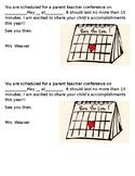 Parent Teacher Conference Reminder  Editable
