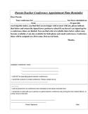 Parent-Teacher Conference Reminder Form (FREE)