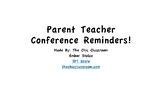 Parent Teacher Conference Reminder Forms