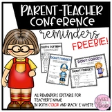 Parent Teacher Conference Reminder Forms [EDITABLE]