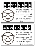 Parent Teacher Conference Reminder Forms