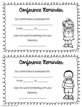 Parent-Teacher Conference Reminder Slips