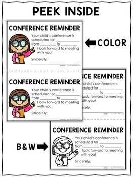 Parent Note - Conference Reminder
