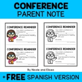 Conference Reminder Note