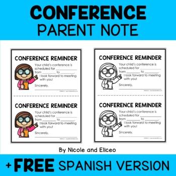 Parent-Teacher Conference Reminders