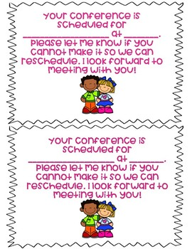 Parent Teacher Conference Reminders