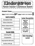 Parent-Teacher Conference Report