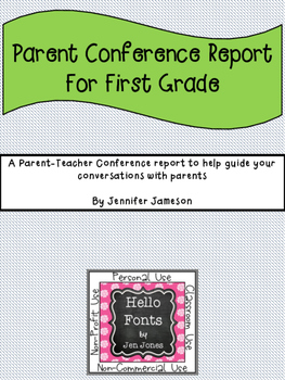 Parent - Teacher Conference Report