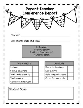 Parent Teacher Conference Report