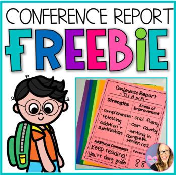 Parent Teacher Conference Report Sheet FREEBIE