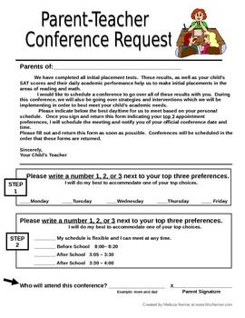 Parent teacher conference sign up letter geccetackletarts parent teacher conference sign up letter spiritdancerdesigns