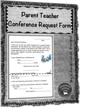 Parent Teacher Conference Request Form Template