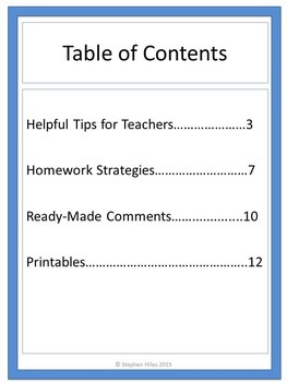 Parent Teacher Conference Resource Packet