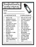 Student Strengths & Weaknesses CHECKLIST - Parent Teacher Conferences