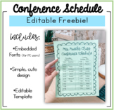 Parent Teacher Conference Schedule FREEBIE! (Editable too!)