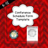Parent- Teacher Conference Schedule Form (EDITABLE)