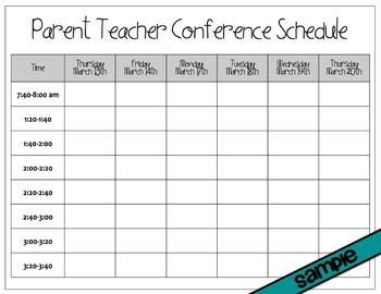 Parent Teacher Conference Scheduling Tools