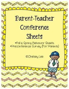 Parent Teacher Conference Sheets