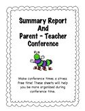 Parent Teacher Conference Sheets