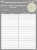 FREE Parent Teacher Conference Sign In Sheet