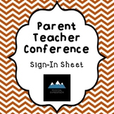 Parent Teacher Conference Sign-In Sheet