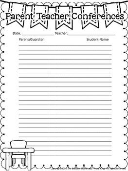 Parent Teacher Conference Sign In Sheets FREEBIE