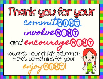 Parent Teacher Conference, Open House, Thank You Sign
