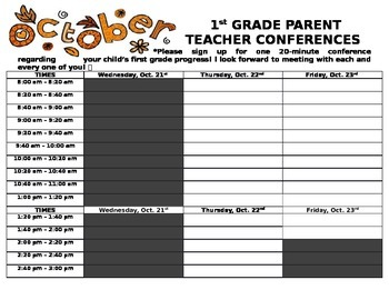Parent Teacher Conference Sign-Up
