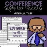 EDITABLE Parent Conference Sign Up Sheets (With Pull Tabs!)