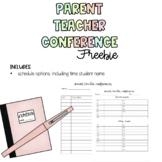Parent Teacher Conference Sign up Sheet