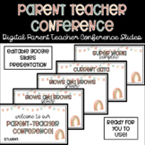 Parent Teacher Conference Slides - Warm Boho Rainbow Vibes