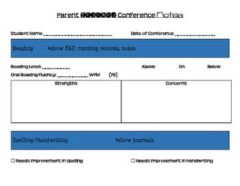 Parent-Teacher Conference Snapshot