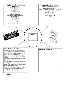 Parent Teacher Conference Snapshot