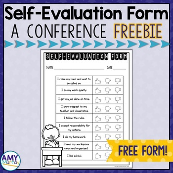 Parent-Teacher Conference Student Self-Evaluation Freebie!