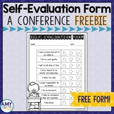 Student Self-Evaluation Form for Parent Teacher Conferences Freebie