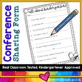Parent Teacher Conference Student Sharing Form